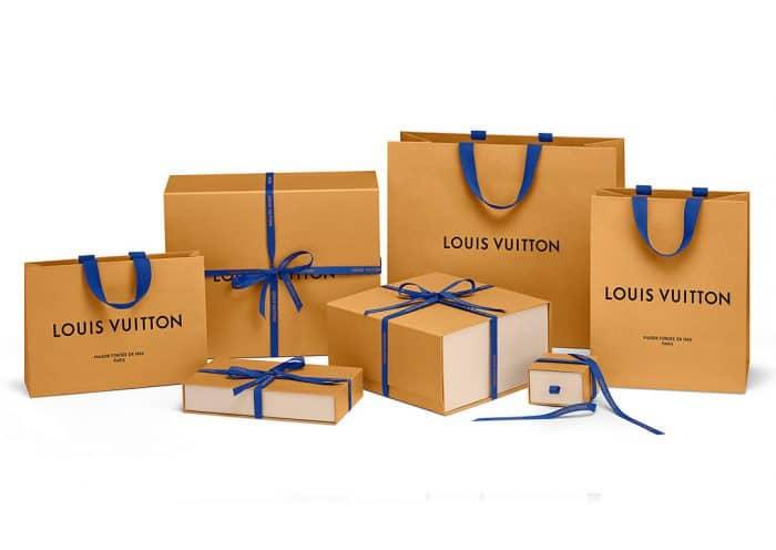 Geschenkbänder, Geschenkpapier, Papiertüten, Packaging für Louis Vuitton hergestellt von CREATEAM PROMOTION