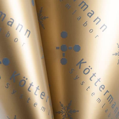 Geschenkpapier individualisiert für Köttermann von CREATEAM PROMOTION