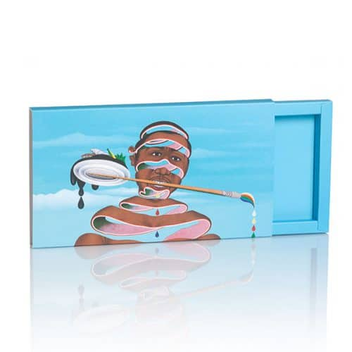 Packaging blaue Produktverpackung Chocolat Schiebeschachtel von CREATEAM PROMOTION
