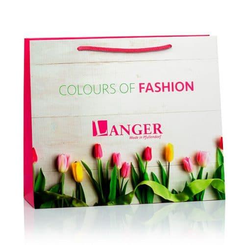 Papiertüten und Papiertaschen im Frühlings-Look für Langer von CREATEAM PROMOTION